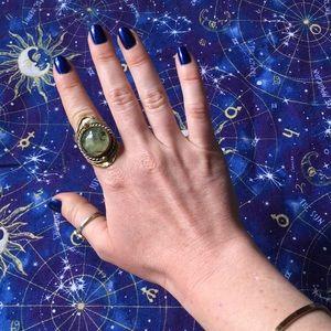 Jewelry - Three Metal Gemstone Ring